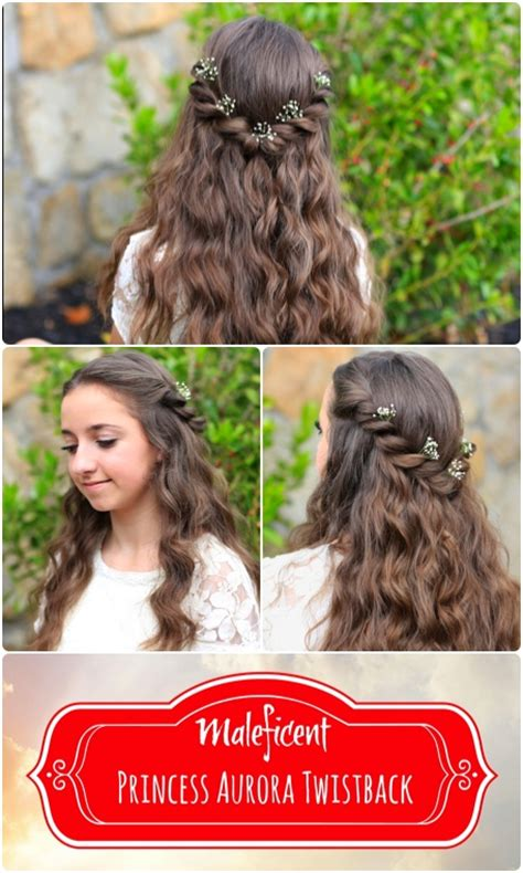cute girl hairstyles disney princess aurora twistback inspired by disney s