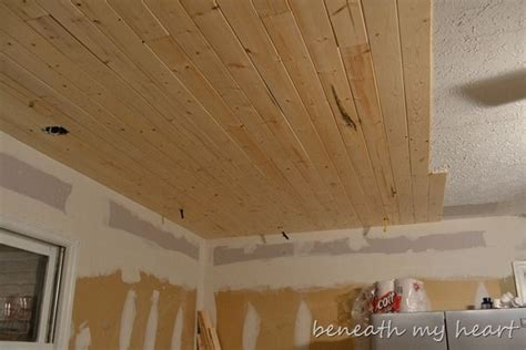 plank ceiling decorating and ideas wood
