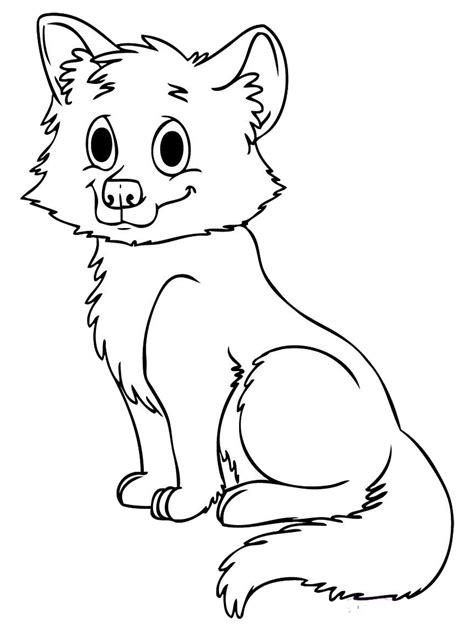coloring pages of cute wolves cute colouring pages baby wolf clipart best
