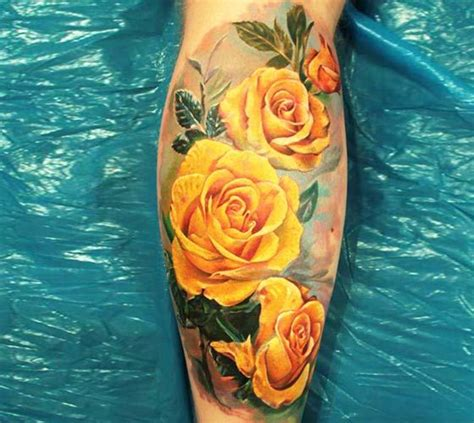 watercolor tattoo yellow rose 25 best ideas about yellow tattoos on