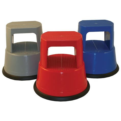 Plastic Step Stools by Kick Stool By Roll Step Plastic Kick Step Stool Parrs