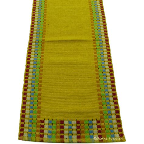 large yellow rug large yellow indian woven bed side contemporary kitchen hallway rag rug runner