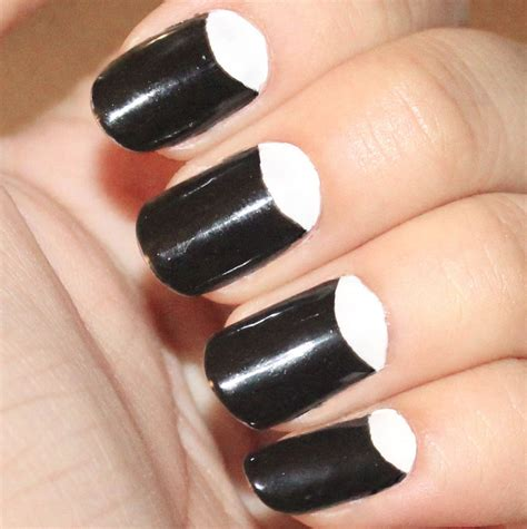 Half Moon Nail Design pretty nails to try half moon nail designs pretty designs