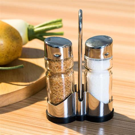 new spice sugar salt pepper 2pcs set glass spice jar seasoning box salt sugar pepper
