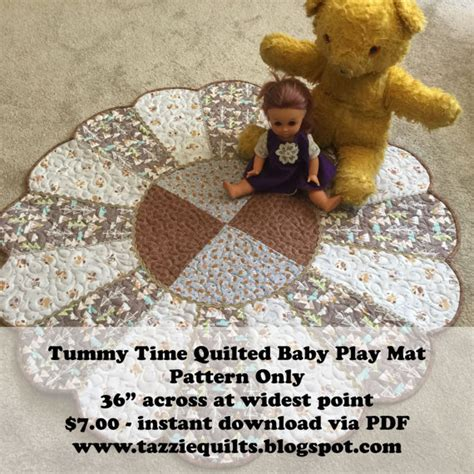 tummy time quilted baby play mat pattern only