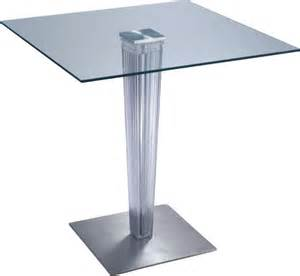 fashion design transparent glass top square bar table