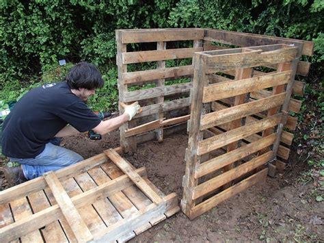 Fabrication D Un Composteur by Fabriquer Composteur Diy En Palettes Makery
