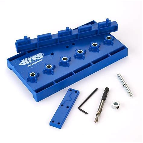 Adjustable Shelf Jig by Kreg Kma3220 Jig Shelf Pin Hardened Steel Drill Guide 5mm Kit