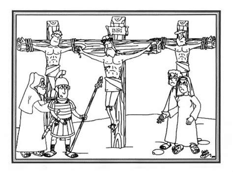 imagenes de jesus crucificado para colorear portal escuela dibujo quot jesus crucificado en el golgota quot