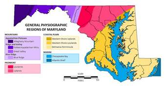 physiographic regions map maryland 101 maryland naturalist s notes maryland s