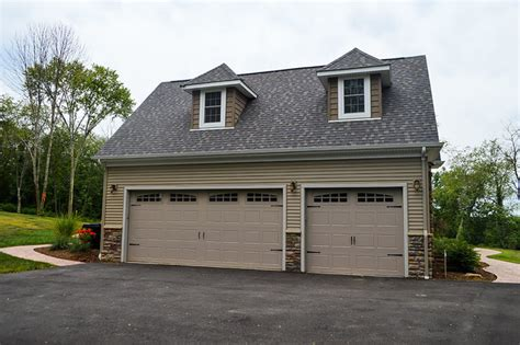 attached 3 car garage with gable roof