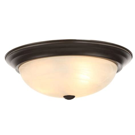 Bronze Ceiling Light by Designers Reedley Collection 3 Light Flush