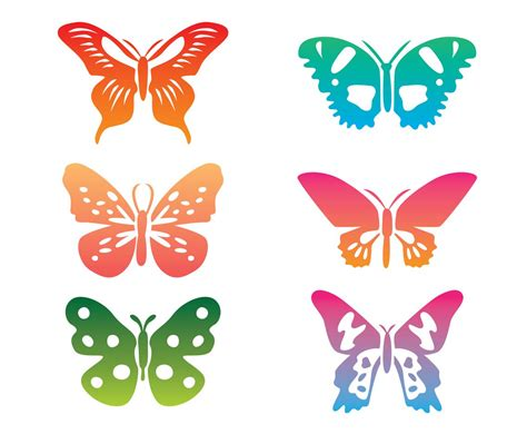 free vector clipart colorful butterfly clip vector vector graphics