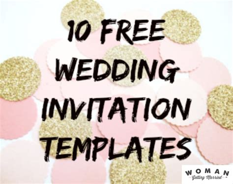 diy invitations templates free diy wedding invitations our favorite free templates