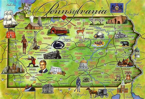 usa map tourist attractions maps update 1200576 pennsylvania tourist attractions map