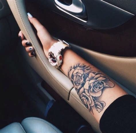 girly rose tattoo arm arm girly tattoos