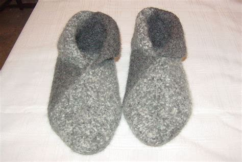 pattern for knitted house slippers felted wool slippers crochet or knit then sew 9 steps