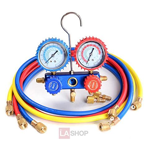 Selang Manifold Set 410 R32 ac refrigerant r410a manifold set 2 valve w 3 hoses import it all
