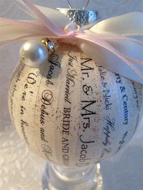 Unique Gifts Made From Wedding Invitation by Personalized Wedding Ornament Wedding Gift Bridal Shower