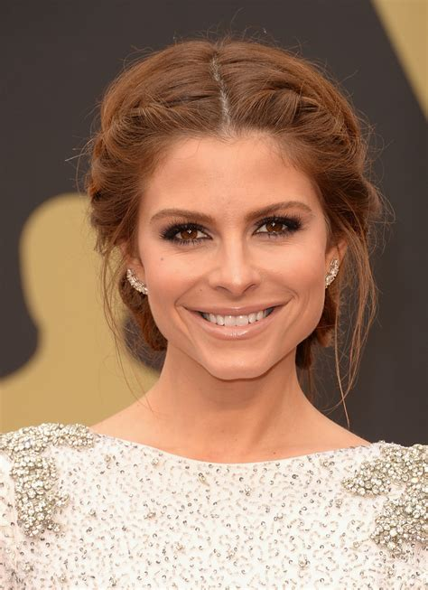 wedding hair messy bun view from front maria menounos braided updo braided updo lookbook