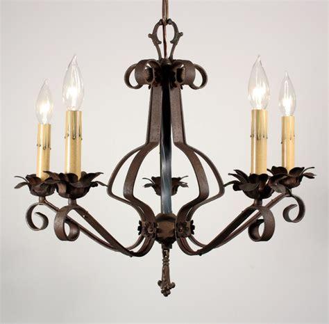 Metal Chandeliers For Sale Wonderful Antique Wrought Iron Five Light Chandelier