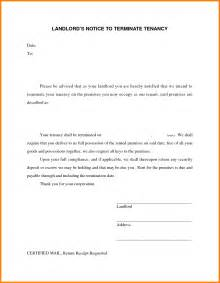 Termination Letter Of Lease Agreement From Landlord 7 Landlord Termination Of Lease Letter Ledger Paper