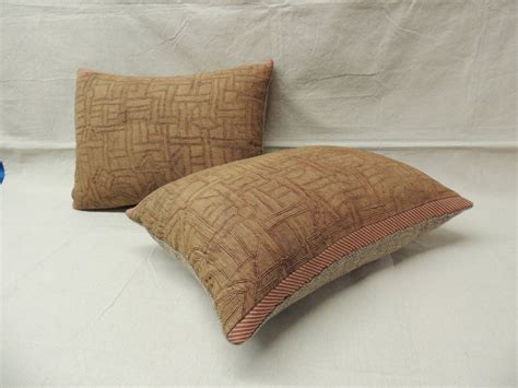 Monkey Stripe Pillow Medium 58cm pair of pink kuba bolster pillows image 2