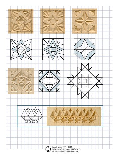 Free Printable Chip Carving Patterns chip carving cutting triangle and square chips in chip