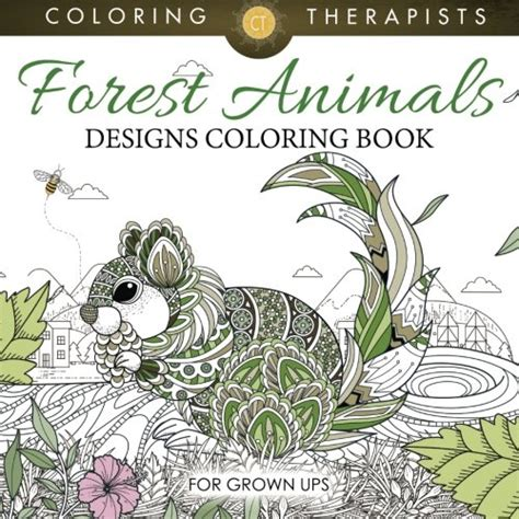 animals coloring book relaxation designs books forest animals designs coloring book for grown ups