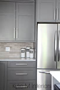 backsplash with grey cabinets kitchen cabinets painted benjamin amherst gray driftwood marble backsplash with stainless