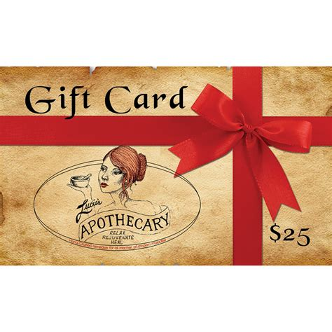 25 Gift Card - lucie s apothecary 25 gift card