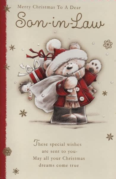 male relation christmas cards merry christmas   dear son  law