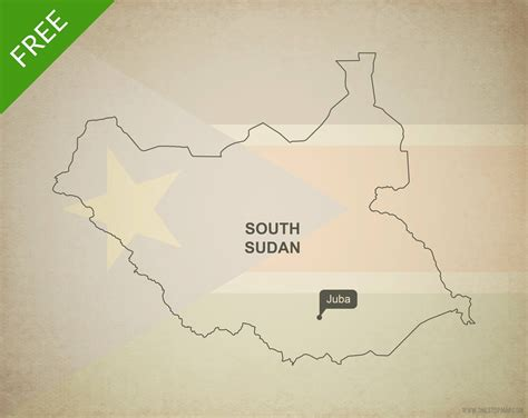 South Sudan Map Outline by Free Vector Map Of South Sudan Outline One Stop Map