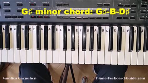 How to Play the G Sharp Minor Chord - G# Minor on Piano ... G Sharp Minor Chord Piano