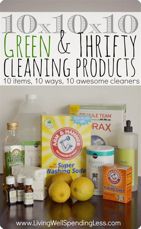 essential household items green thrifty cleaning products living well spending less 174