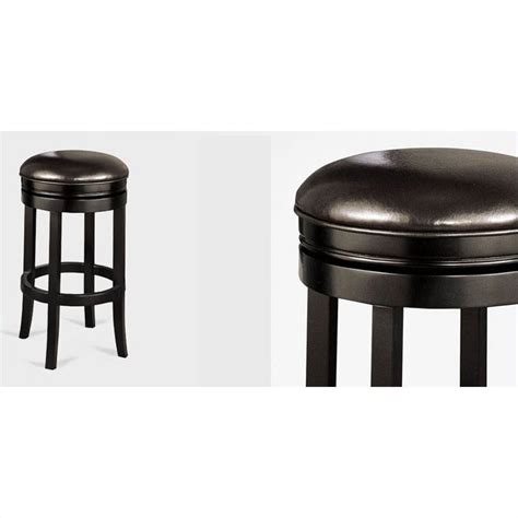 backless black swivel bar stools armen living 30 quot backless swivel bar stool in black