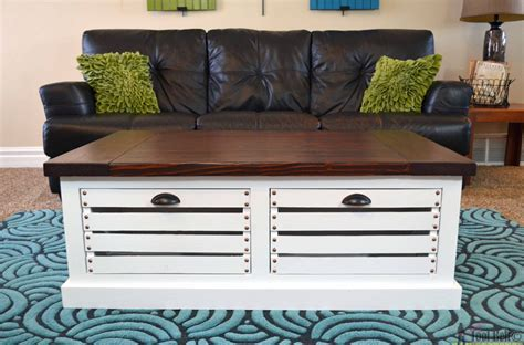 build a coffee table with storage crate storage coffee table and stools tool belt