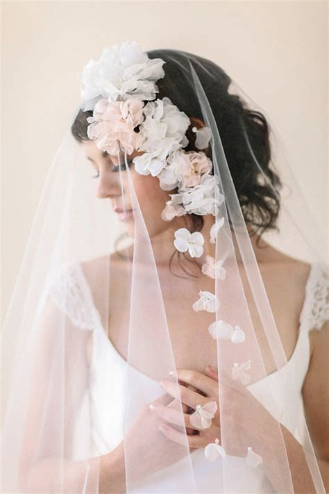 Wedding Hair With Veil And Flower by Accessories Silk Flower Wedding Veil With Flowers