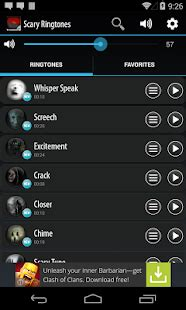 aptoide zedge scary ringtones android apps on google play