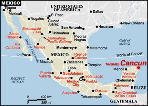 travel songs map cancun, mexico