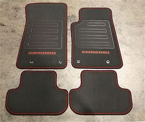 Chevy Camaro Floor Mats by 10 2015 Chevrolet Camaro Carpet Floor Mats Black W
