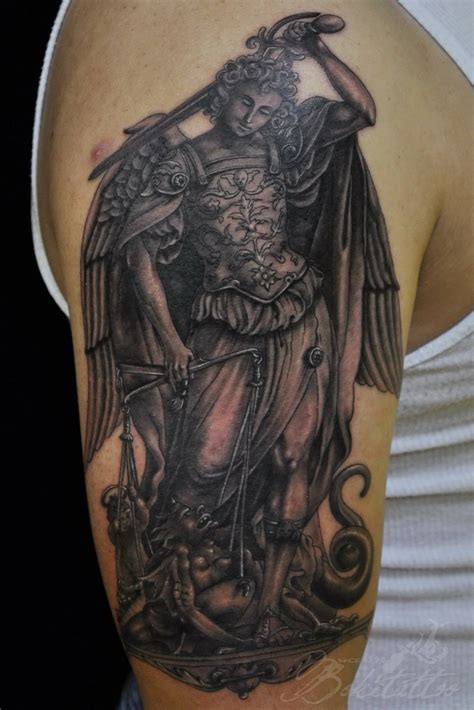 archangel michael tattoo by bokitattoo on deviantart