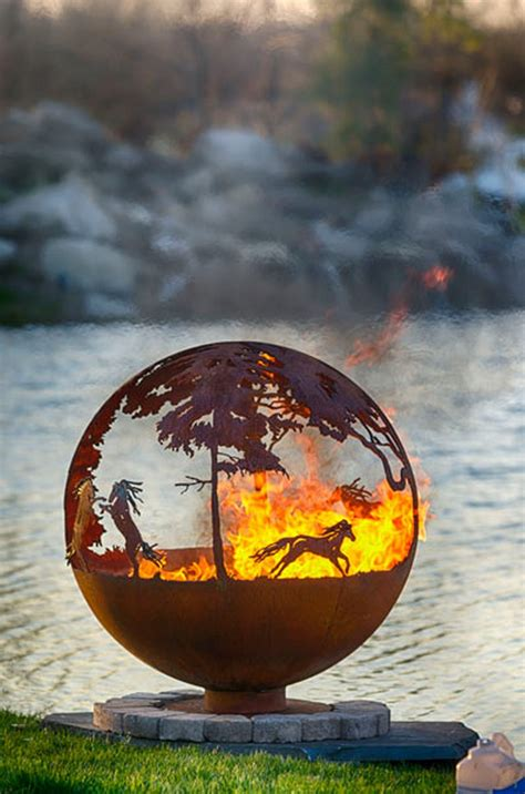 artistic sphere fire pit the owner builder network