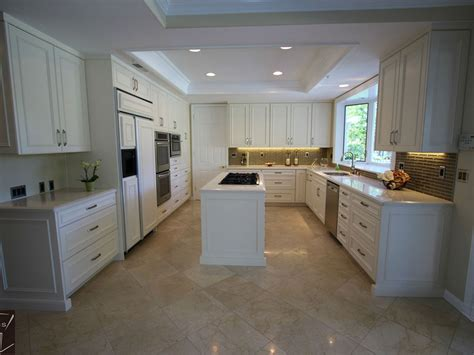 kitchen remodel white cabinets coto de caza transitional u shaped design build white