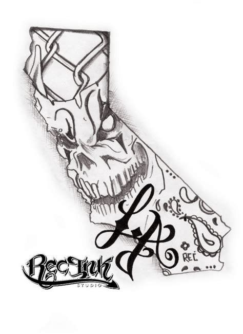 ca logo tattoo designs l a tattoo los angeles tattoo california by txrec on