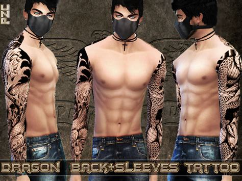 full body tattoo skyrim dragon back and sleeves tattoo by pinkzombiecupcakes at