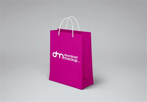 Bag Design Mockup | shopping paper bag design mockup free psd download