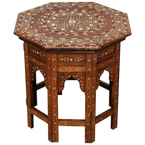 anglo indian inlaid octagonal side table at 1stdibs