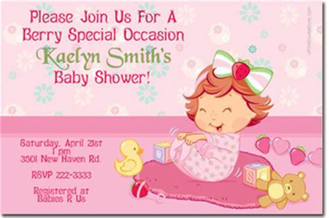 Strawberry Shortcake Baby Shower Invitations by Strawberry Shortcake Birthday Invitations Wrappers