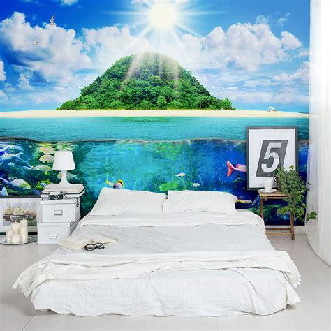 removable wall murals island sea life wall mural